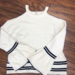 NEW Anthropology drop shoulder knit sweater XS